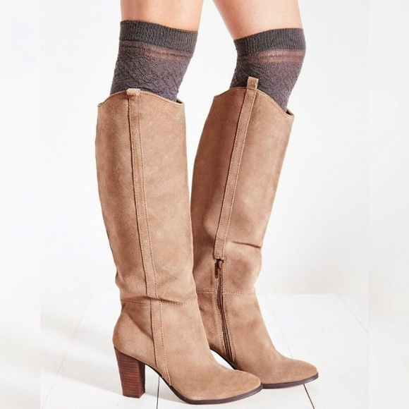 Dolce Vita Taupe Suede Tall Boot